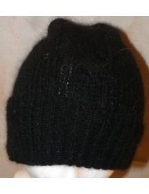 Noir Bonnet  torsade 40% angora