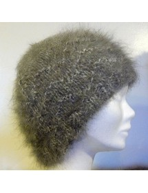 chiné écru/anthracite bonnet vague 100% angora
