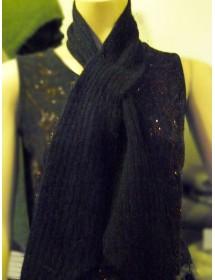 noir écharpe cravate 40% angora