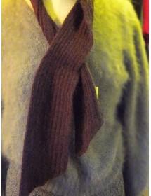 châtaigne écharpe cravate 40% angora