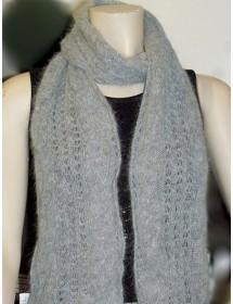 gris chiné écharpe torsade 40% angora