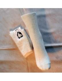 écru chaussette fine angora sans teinture T.35-46