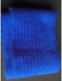 Echarpe Bleu Roy Côte 2/2 100% angora