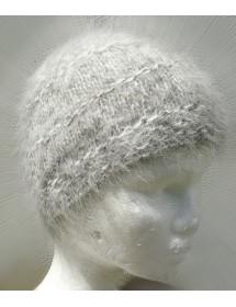Bonnet de Ville chiné écru-anthracite 100% angora