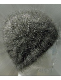 Bonnet vague anthracite100% angora