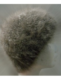 Bonnet vague havane100% angora