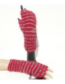 Mitaine hermès anthracite avec doigts