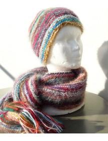 Bonnet bariolé