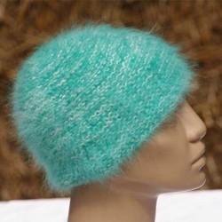 chiné écru émeraude bonnet mousse 80%