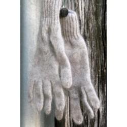 gris pierre sans teinture Gants 40% angora