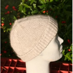 Bonnet torsade gris naturel