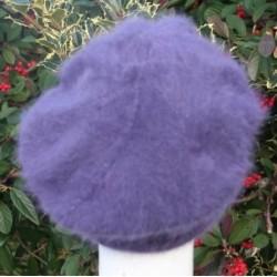 violet 80% angora Béret