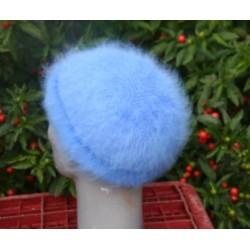 Bonnet mousse fantaisie bleu