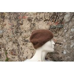 marron 80% angora  bonnet