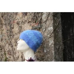 bleu 80% angora  bonnet...