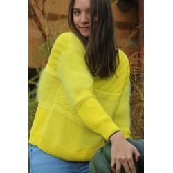 jaune 80% angora pull T.3