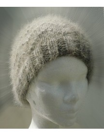 bonnet vague 100% angora écru