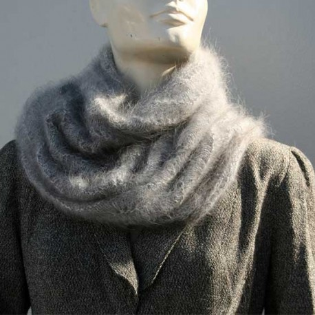 Snood COVER NECK 100% angora SIDE 2/2