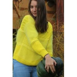 pull jaune citron 70% angora