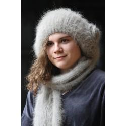 garenne Bonnet beret à Fleur 100% angora