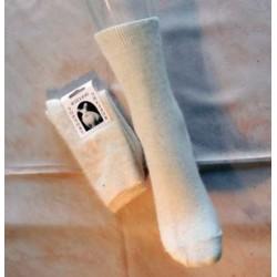 écru chaussette angora-coton