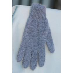 bleu chiné 40% angora gants