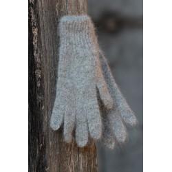 gris chiné 40% angora gants