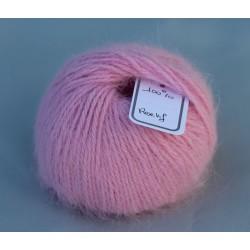 Rose vif 100% angora B.207