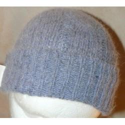 Bonnet torsade Bleu chiné